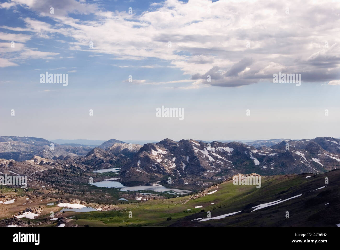 View of the Emigrant Lakes in the Emigrant Wilderness Area in the Sierra Nevada Mountains, California, USA. Stock Photo