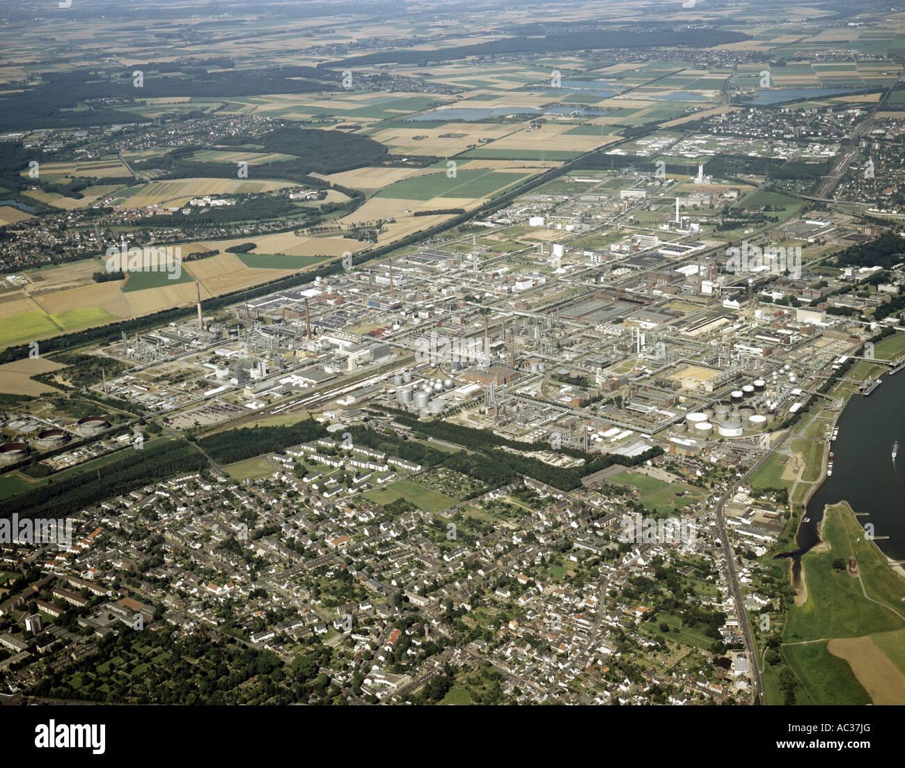 EC Petrochemistry and Bayer AG, Germany, North Rhine-Westphalia, Dormagen - Stock Image