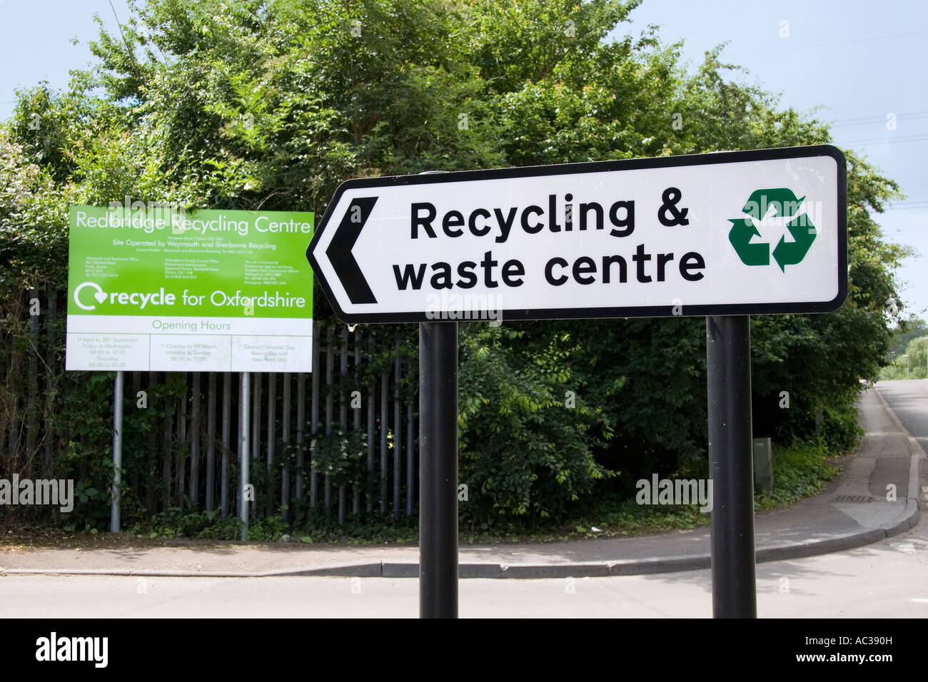 Waste and recycling centre in Oxfordshire 2 - Stock Image