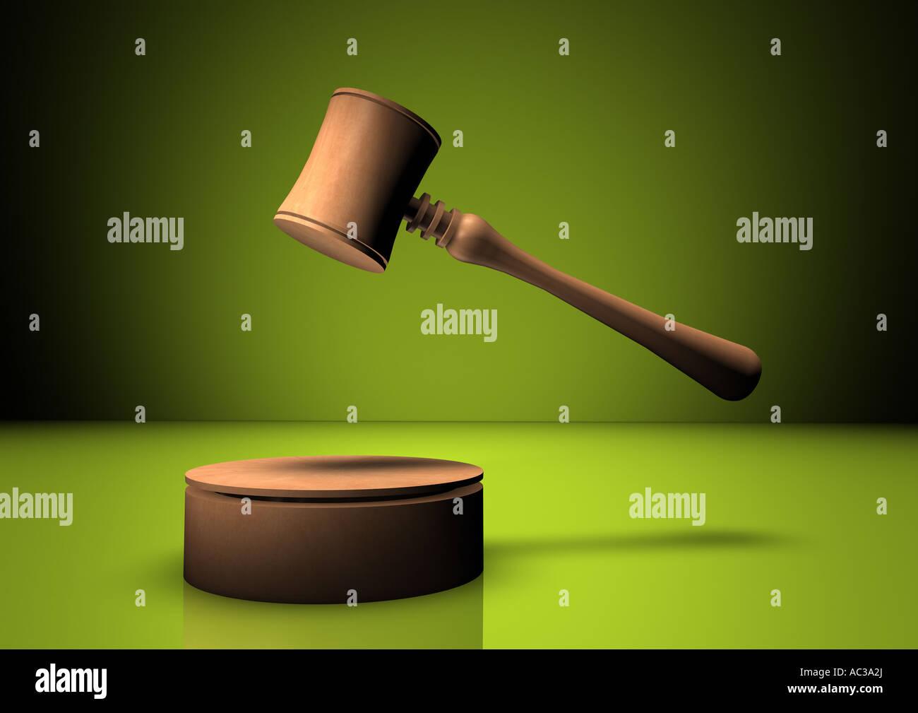 auction hammer Stock Photo