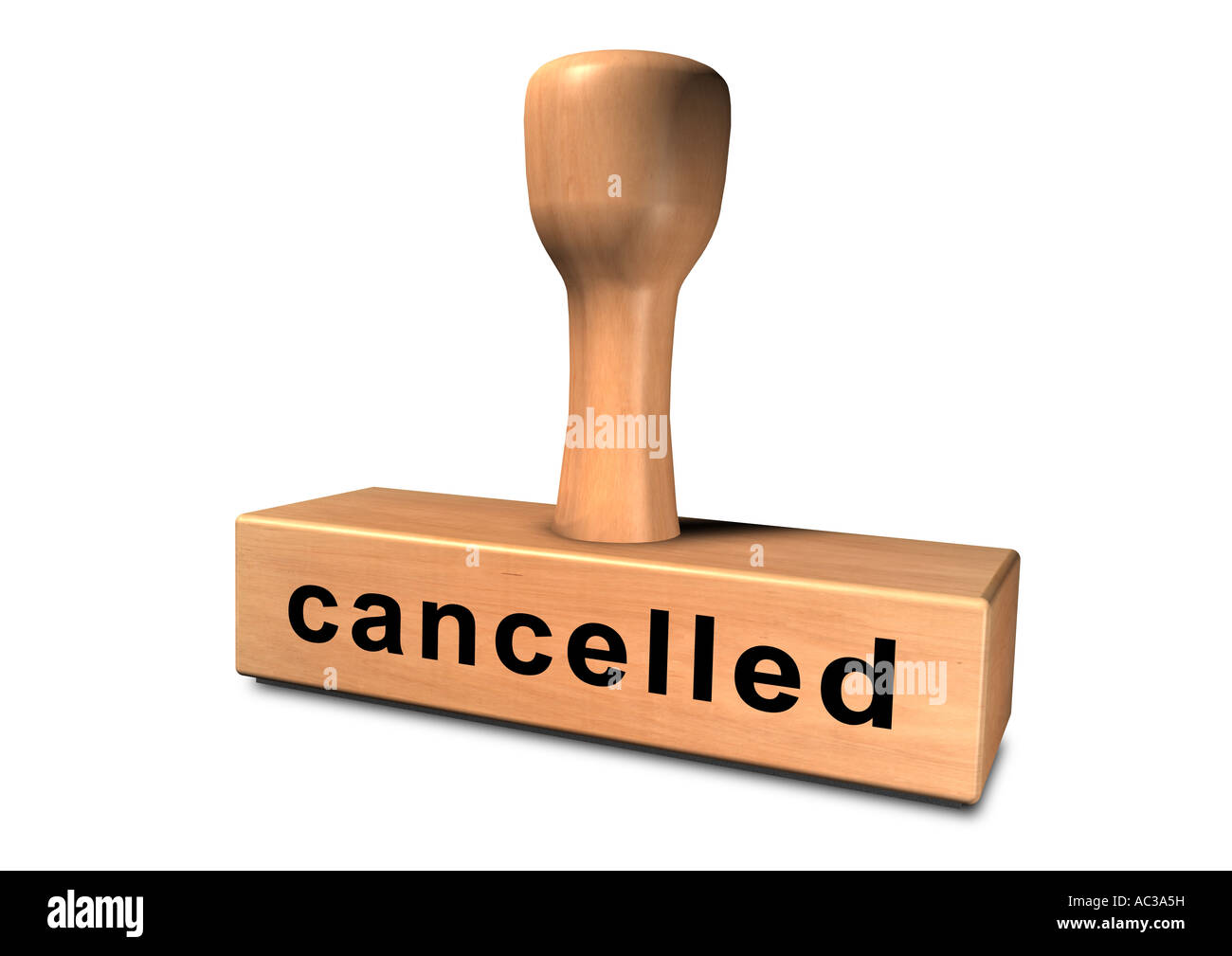 stamp chop core indenter indentor punch cancelled Stock Photo