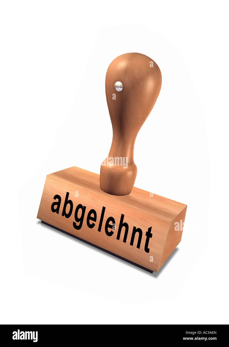 rejected declined german stamp Stempel abgelehnt Stock Photo