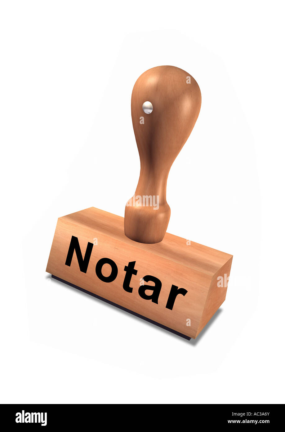 notary public german stamp Stempel Notar Stock Photo