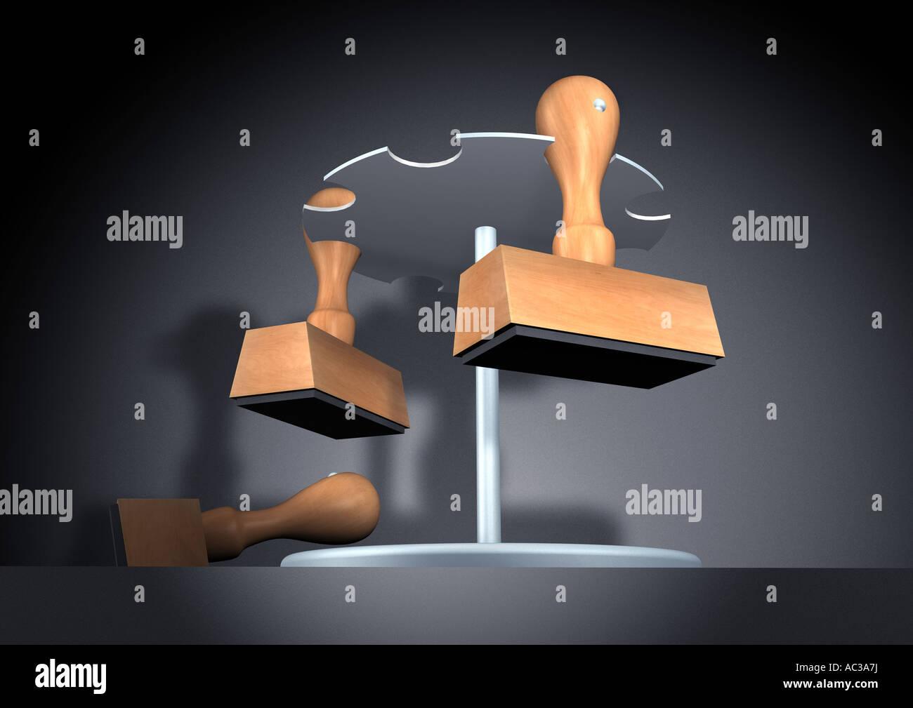 stamp holder Stempelhalter - Stock Image
