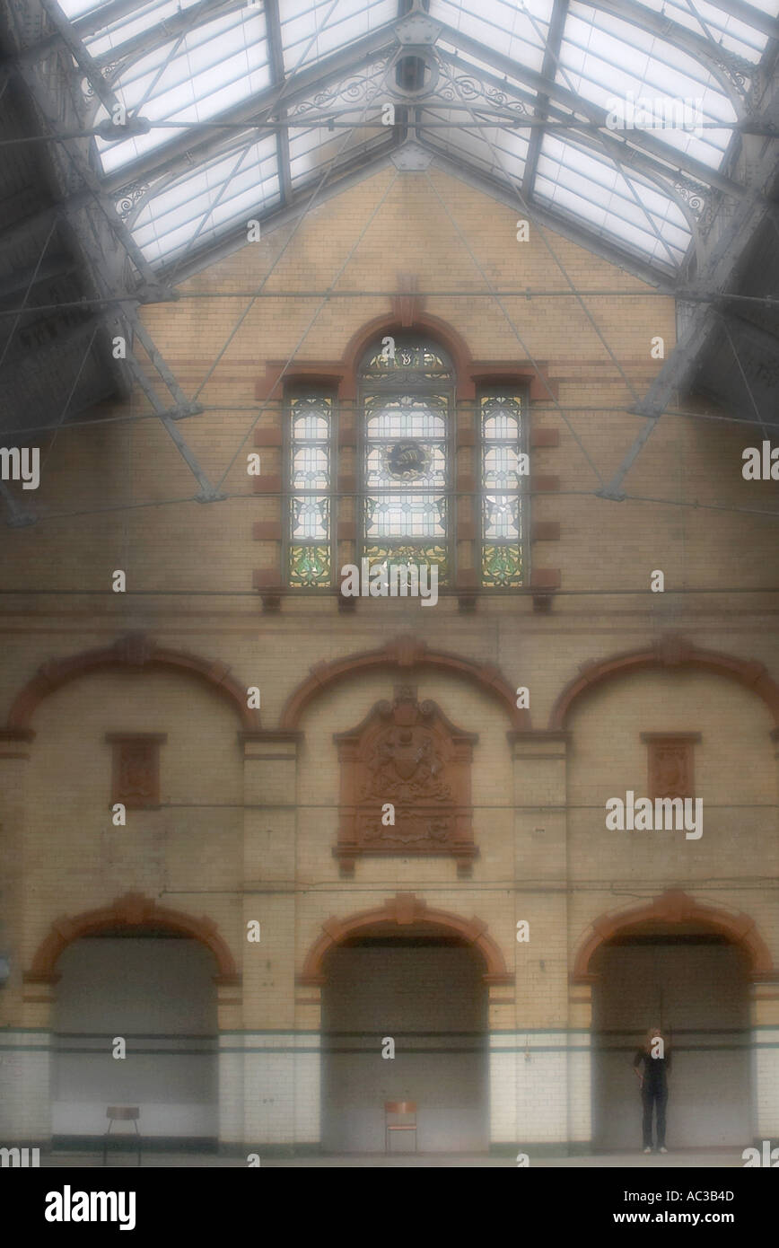 Interior Victoria Baths Manchester - Stock Image