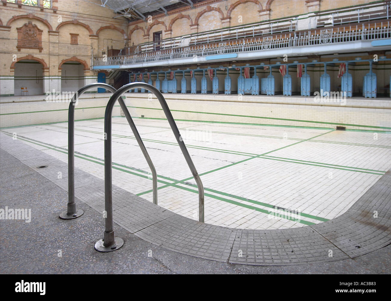 Pool Victoria Baths Rusholme Manchester - Stock Image