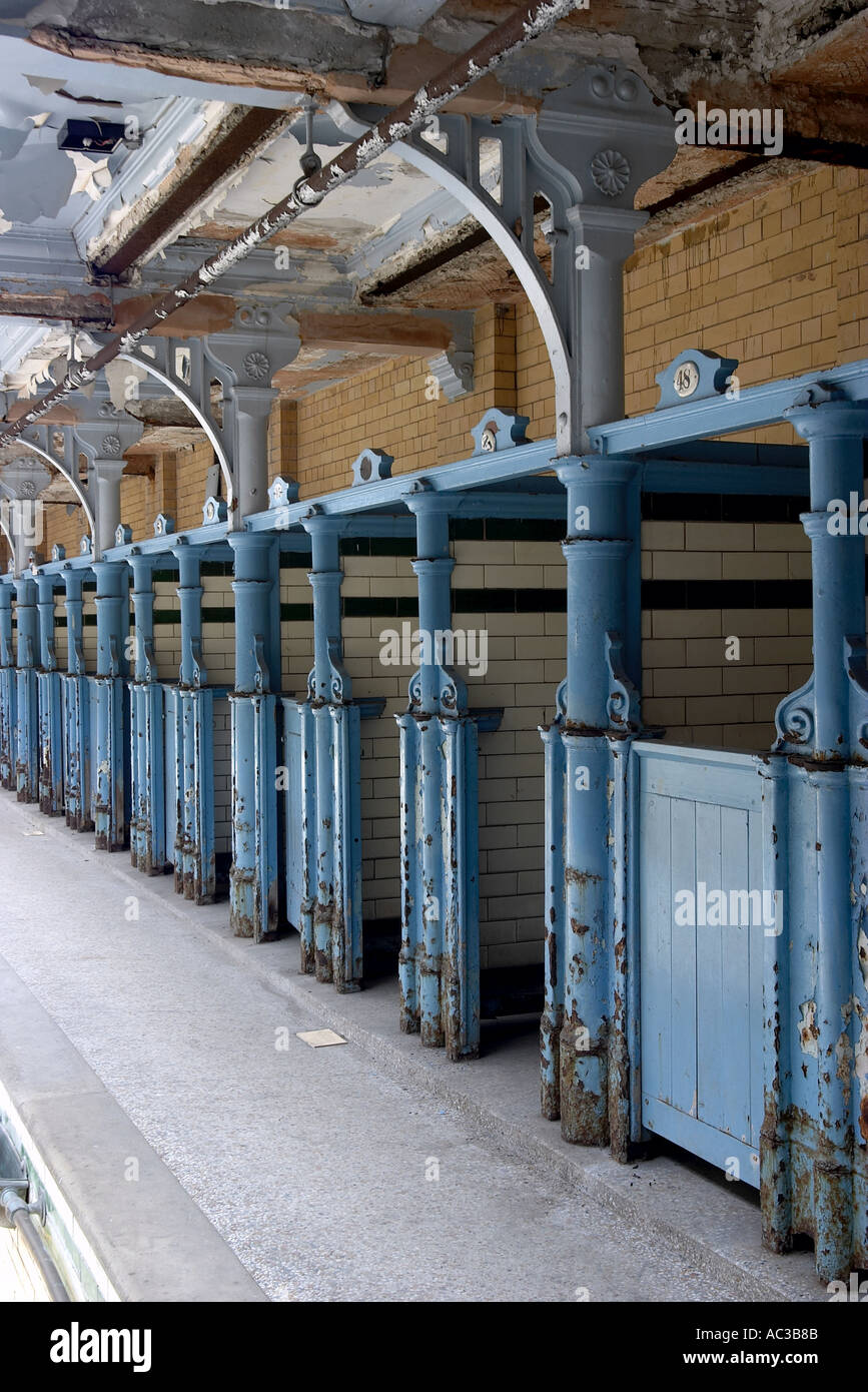 Changing Stalls Victoria Baths Manchester - Stock Image