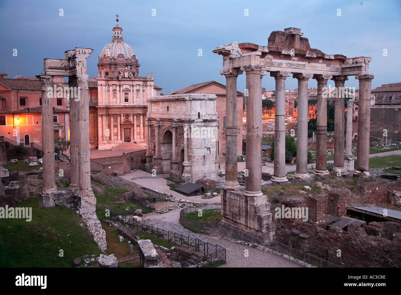 View From Capitoline Museums To Roman Forum Stock Photos