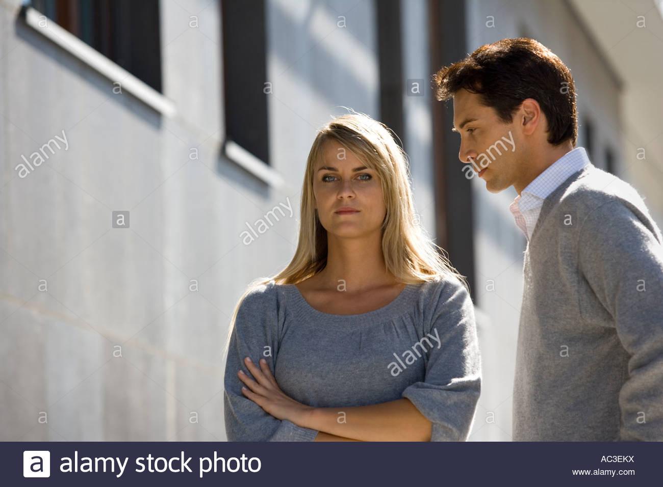 An unhappy couple - Stock Image