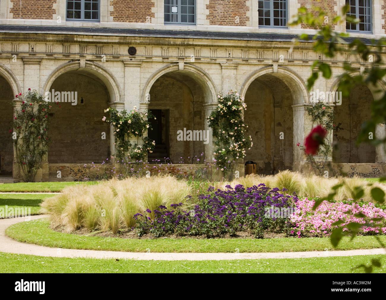 L'Abbaye et les Jardins de Valloires Stock Photo