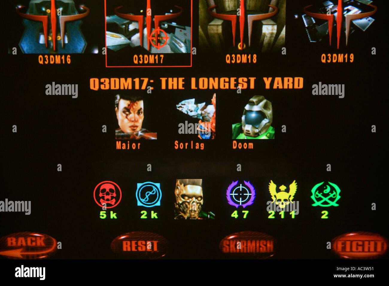 Computer game screen of Quake III Arena Stock Photo: 4255056 - Alamy