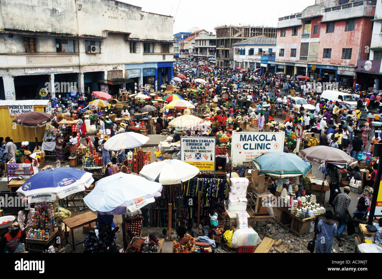 Accra Ghana Food Market
