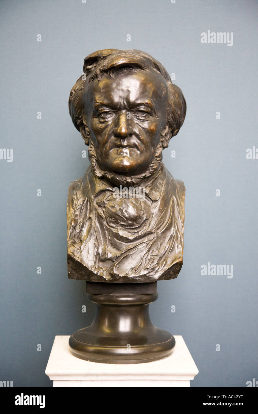 Richard Wagner 1880 83 By Lorenz Gedon 1843 1883, Alte Nationalgalerie, Berlin, Germany - Stock Image