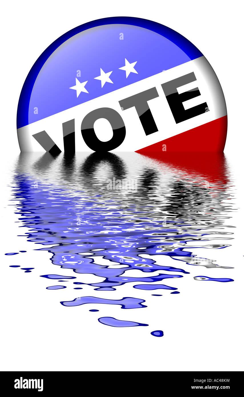 Vote Button 2008 - Stock Image