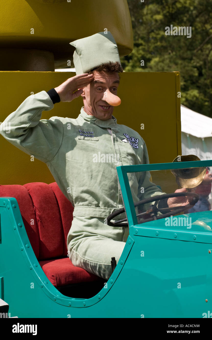 Private Meekly of Wacky Racers salutes from with the Army Surplus