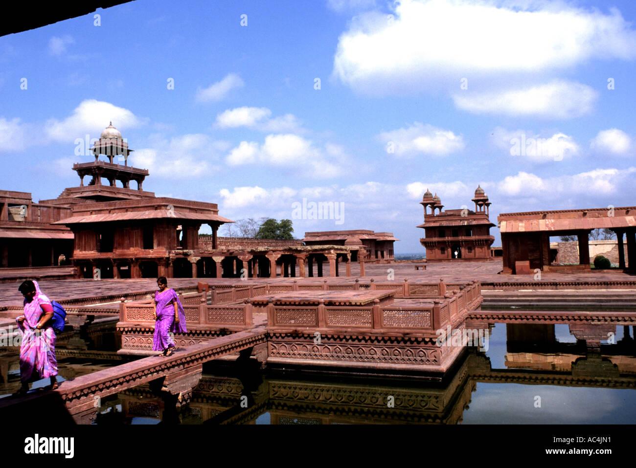 Red fort Agra Moghal Emperor Akbar India Indian   Uttar Pradesh - Stock Image