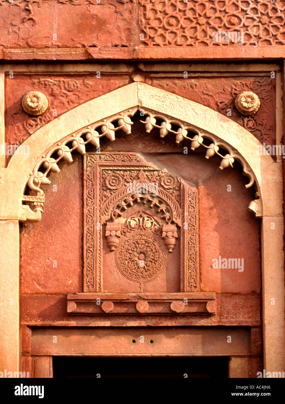 Red fort Agra Moghal Emperor Akbar India Indian - Stock Image