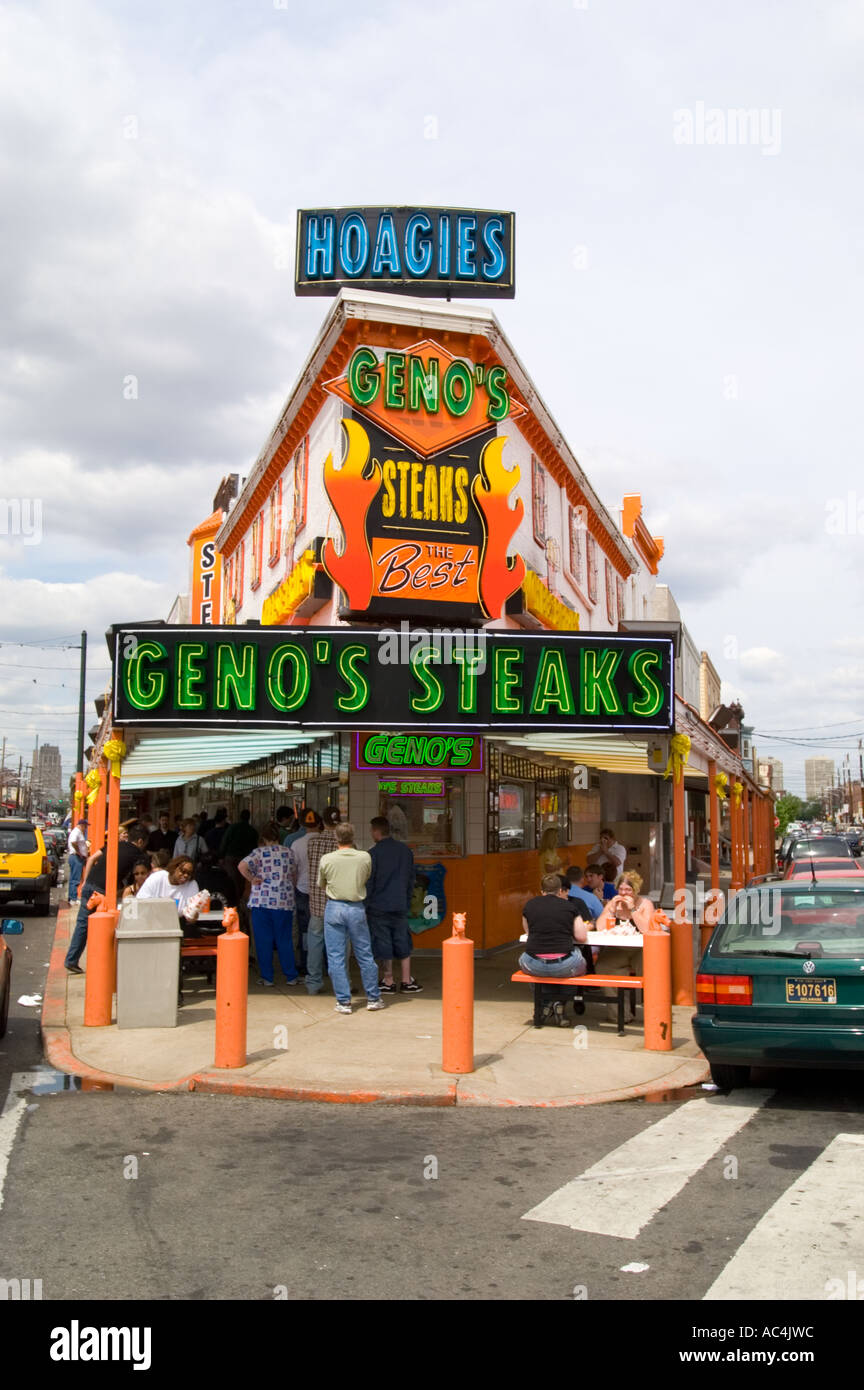 Genos Philly Cheese Steak Restaurant In Philadelphia Pennsylvania