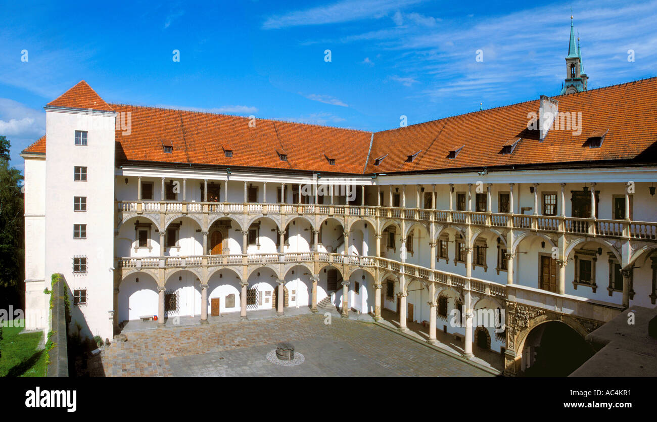 Castle and Palace of The Dukes in Brzeg Poland - Stock Image