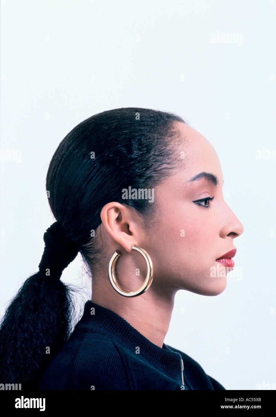 SADE BRITISH POP SINGER 1986 - Stock Image