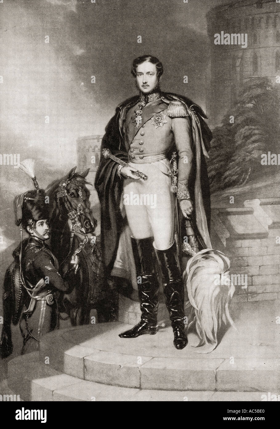 Prince Albert of Saxe-Coburg and Gotha, 1819 –1861.  Husband and consort of Queen Victoria. - Stock Image