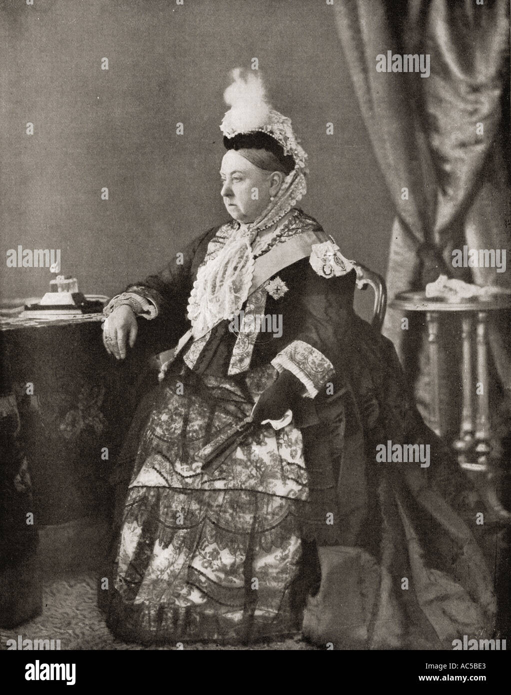 Queen Victoria, 1819 - 1901, seen here in the dress worn by her at the jubilee service, 1887. - Stock Image