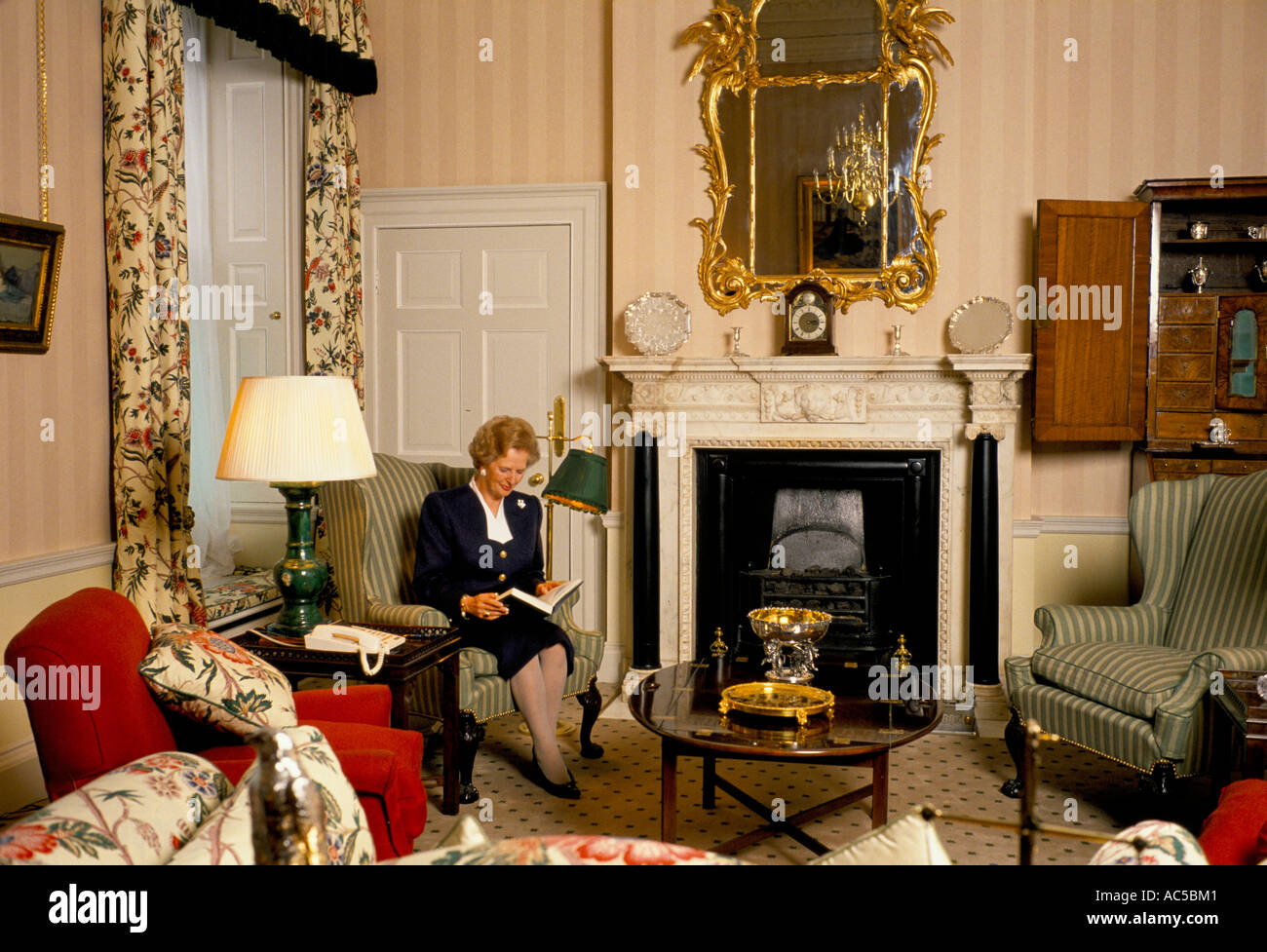Margaret Thatcher Inside Number 10 Downing Street Working