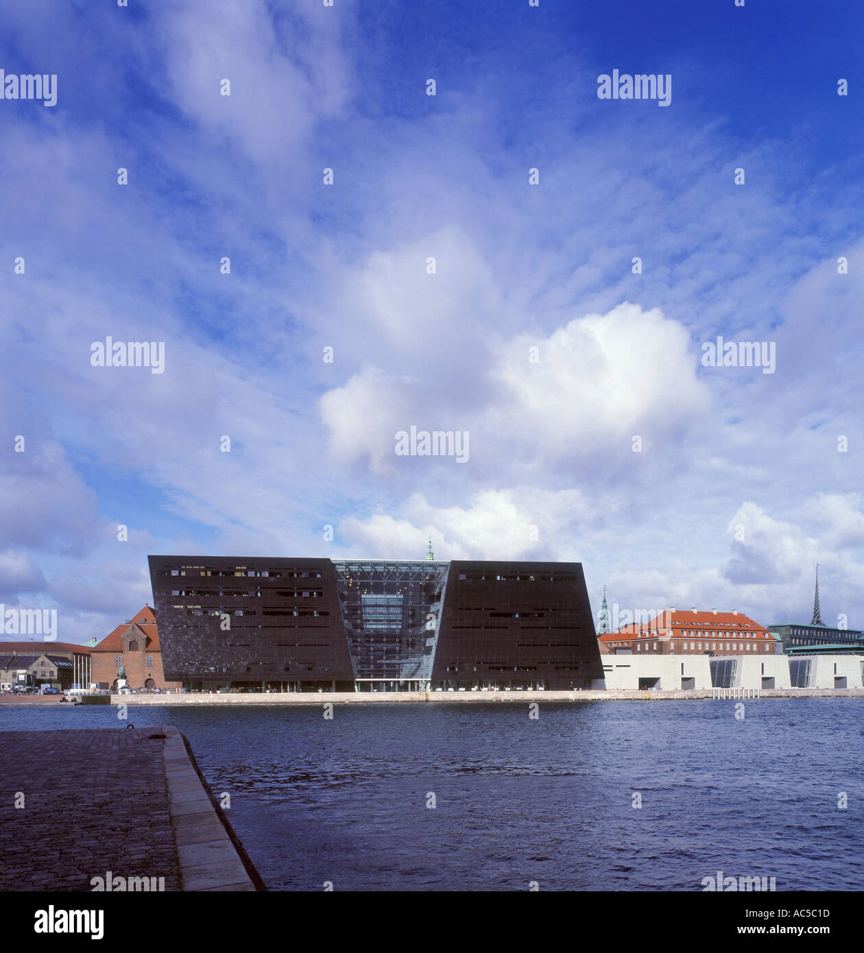 The Diamond building The Royal Danish Library on Copenhagen Seafront Inaugurated 1999 Stock Photo