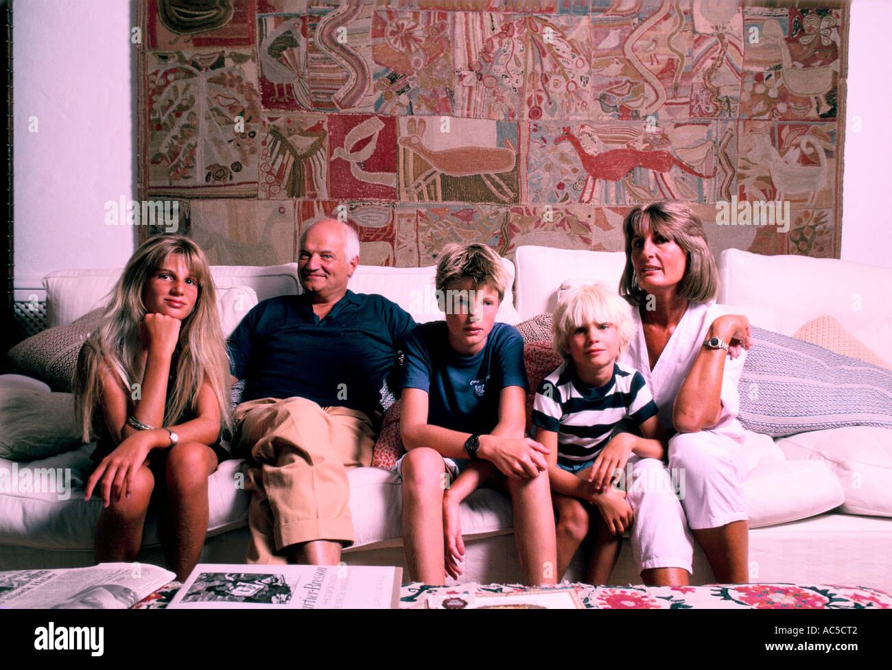 SIR JAMES GOLDSMITH FAMILY MARBELLA - Stock Image