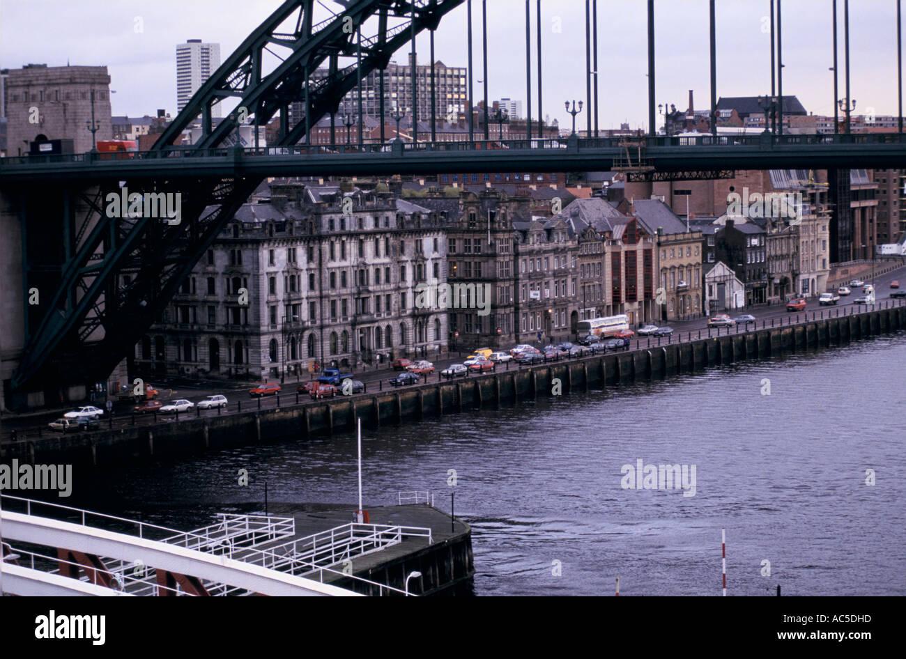 RIVER TYNE IN NEWCASTLE DECEMBER 1991 - Stock Image