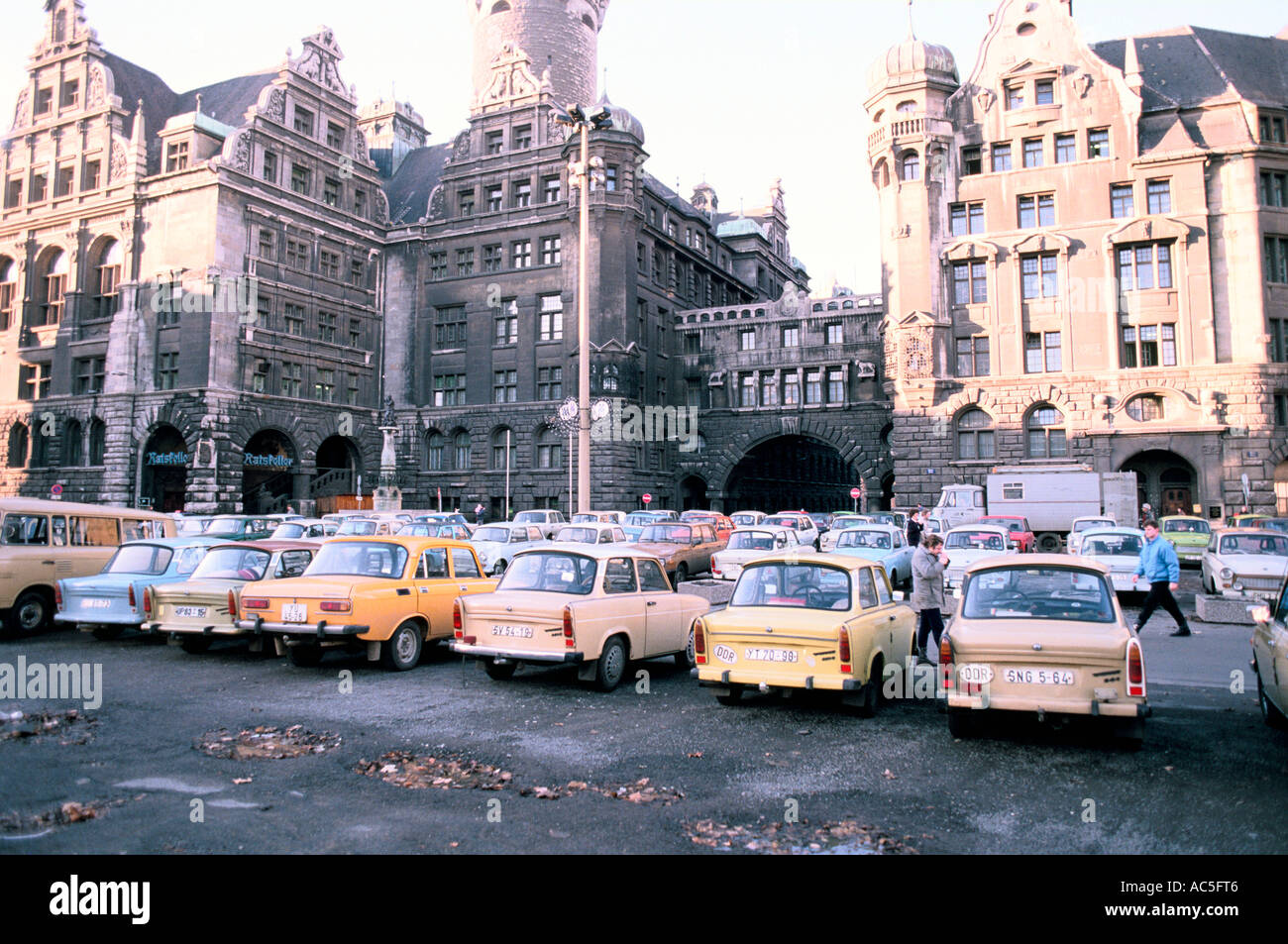 LEIPZIG CARS EAST GERMANY IN THE 1980'S TRABANT CARS - Stock Image