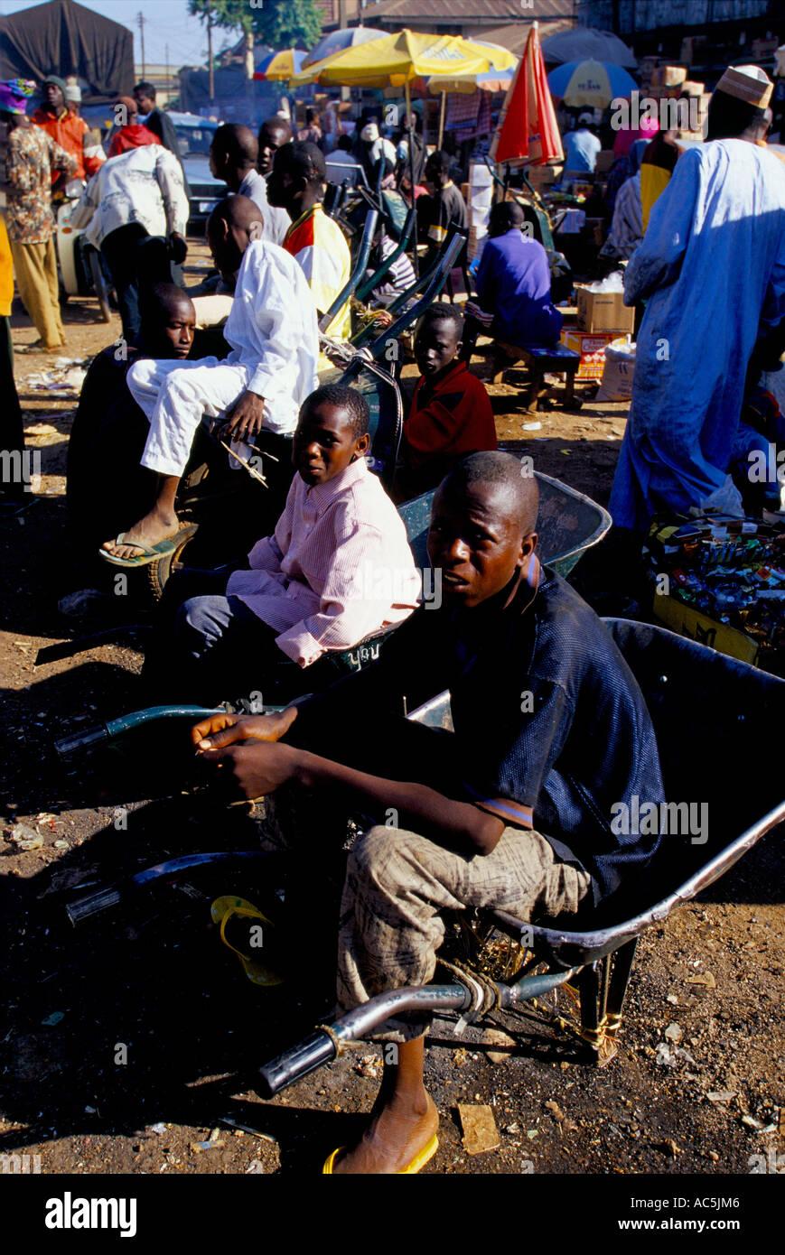 LAGOS MARKET NIGERIA 2001 2001 - Stock Image