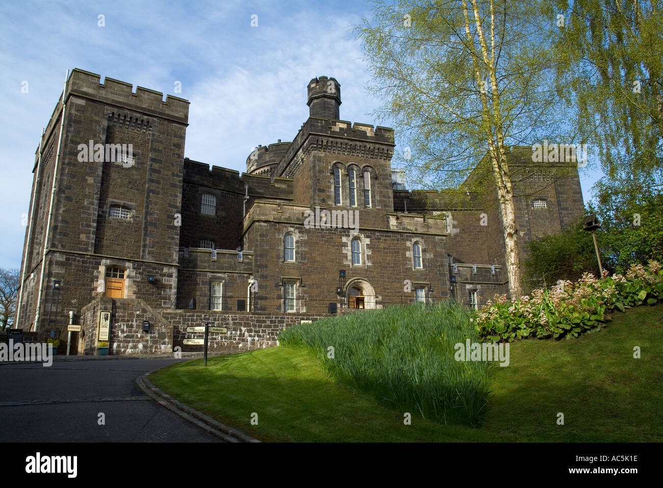 dh  STIRLING STIRLINGSHIRE Old Town Jail tourist jailhouse Museum Stock Photo