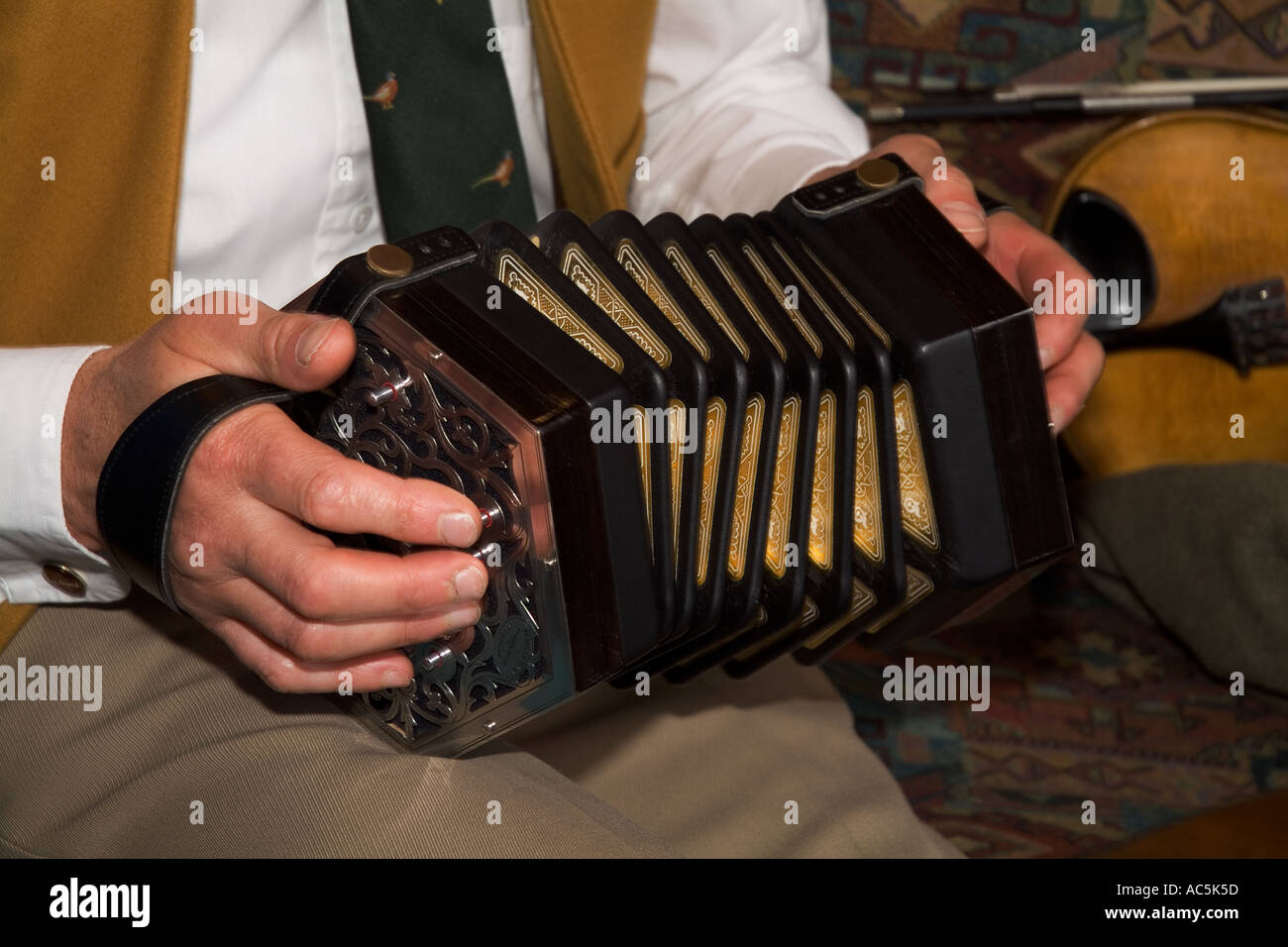dh Orkney Folk Festival STROMNESS ORKNEY Anglo Concertina musical instrument Stock Photo