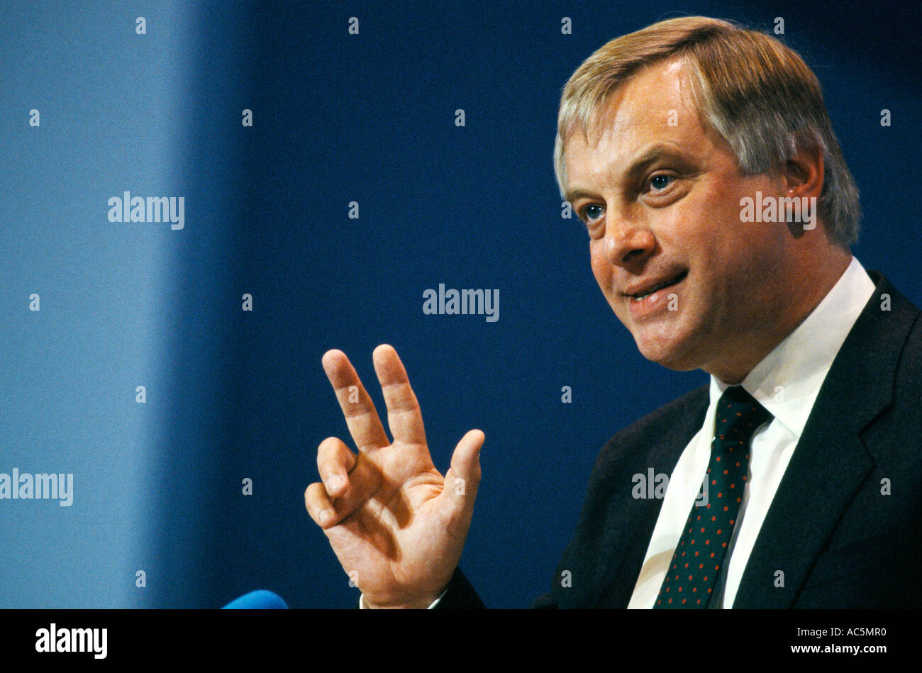 Chris Patten British politician Secretary of State for the Environment Stock Photo