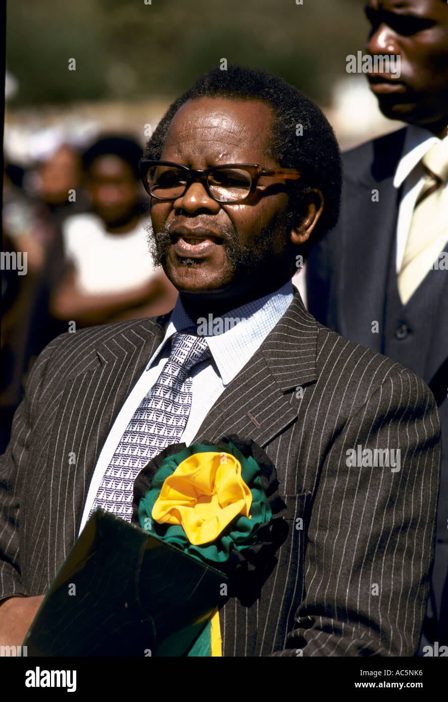 Oliver Tambo South African anti apartheid politician and President of African National Congress ANC President - Stock Image