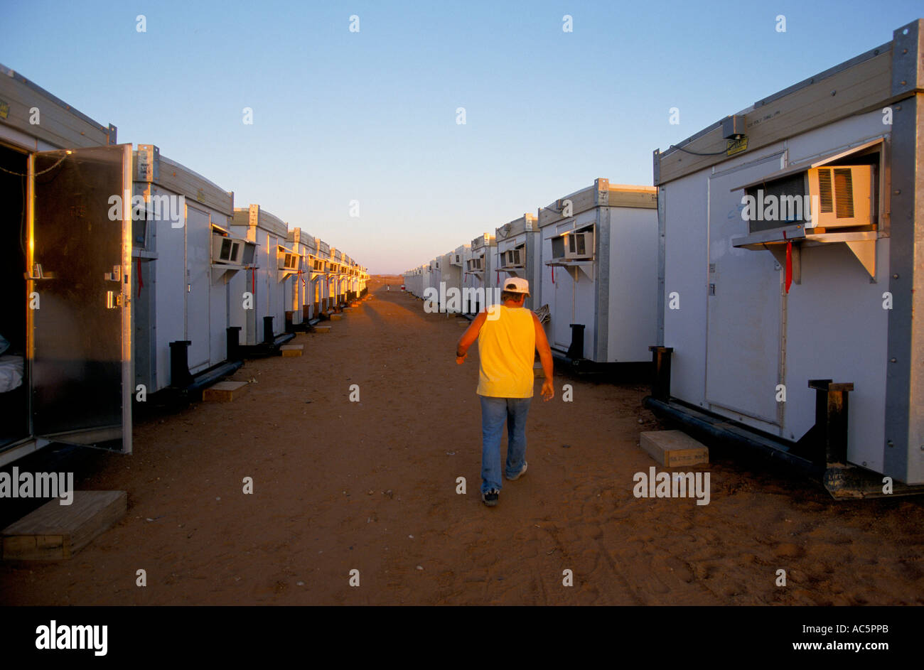 Mobile Homes Workers Camp Stock Photos & Mobile Homes Workers Camp