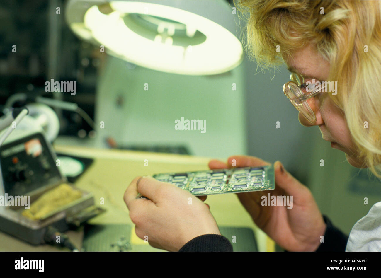 Panasonic Factory Stock Photos Images Alamy Circuitboardmachinewithtechnician Commercial Editorial Female Worker Checking Circuit Board At Chip Placement Center Newbury 1992 Image