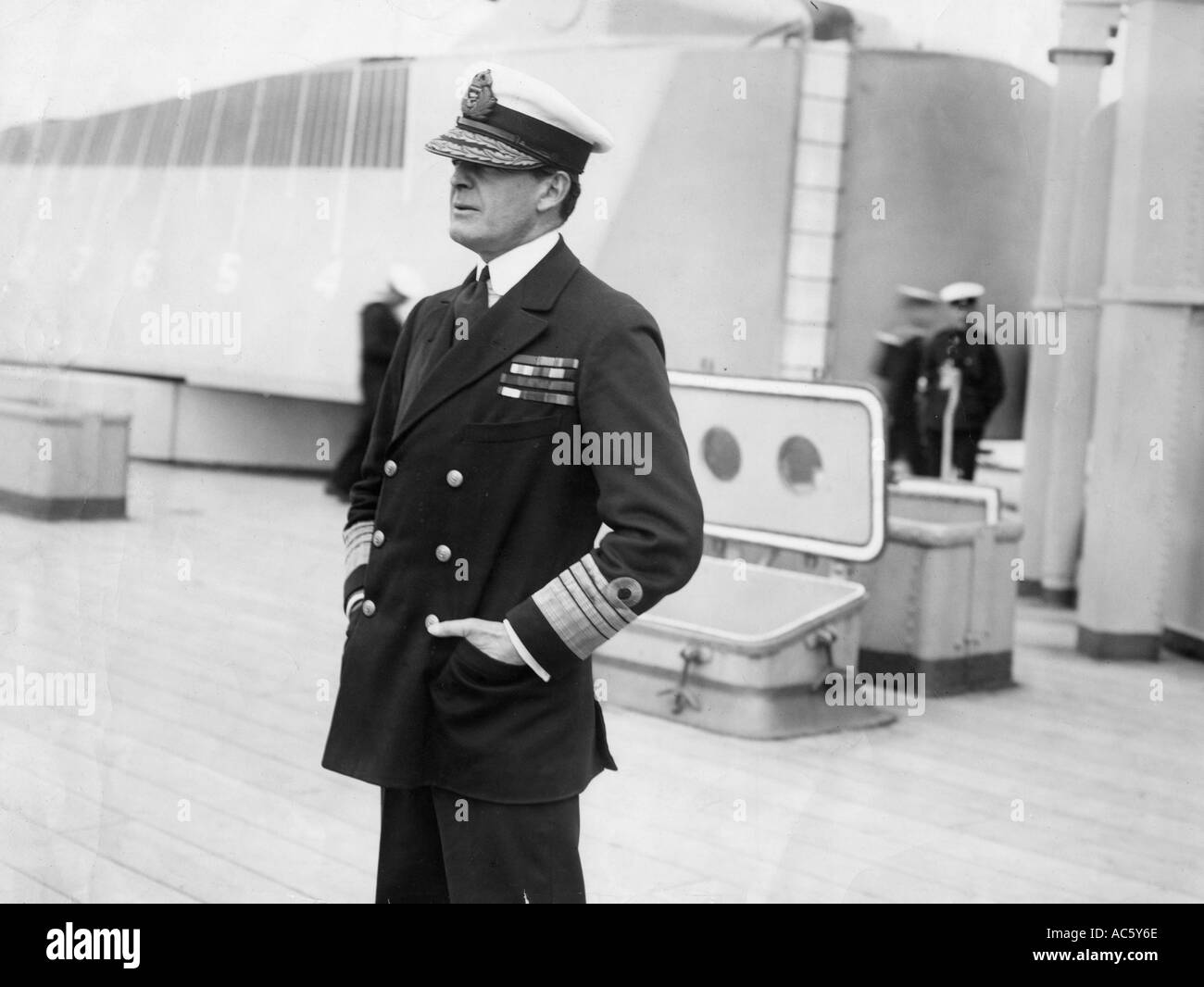 Admiral Sir DAVID BEATTY 1871 1936 fought at most of the naval engagements of WWI and later became First Sea Lord - Stock Image