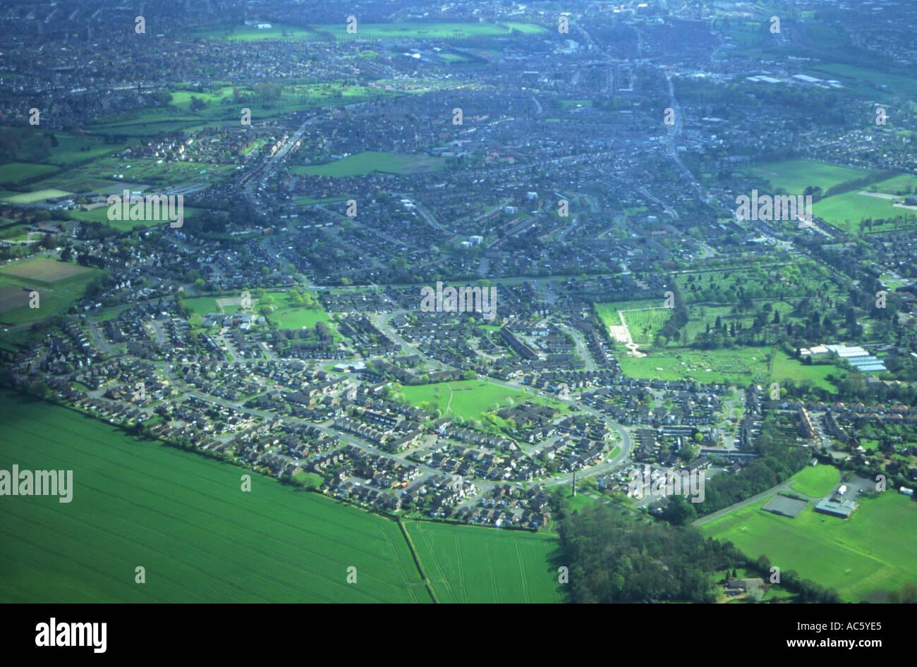 Suburbia at the edge of Northampton - Stock Image
