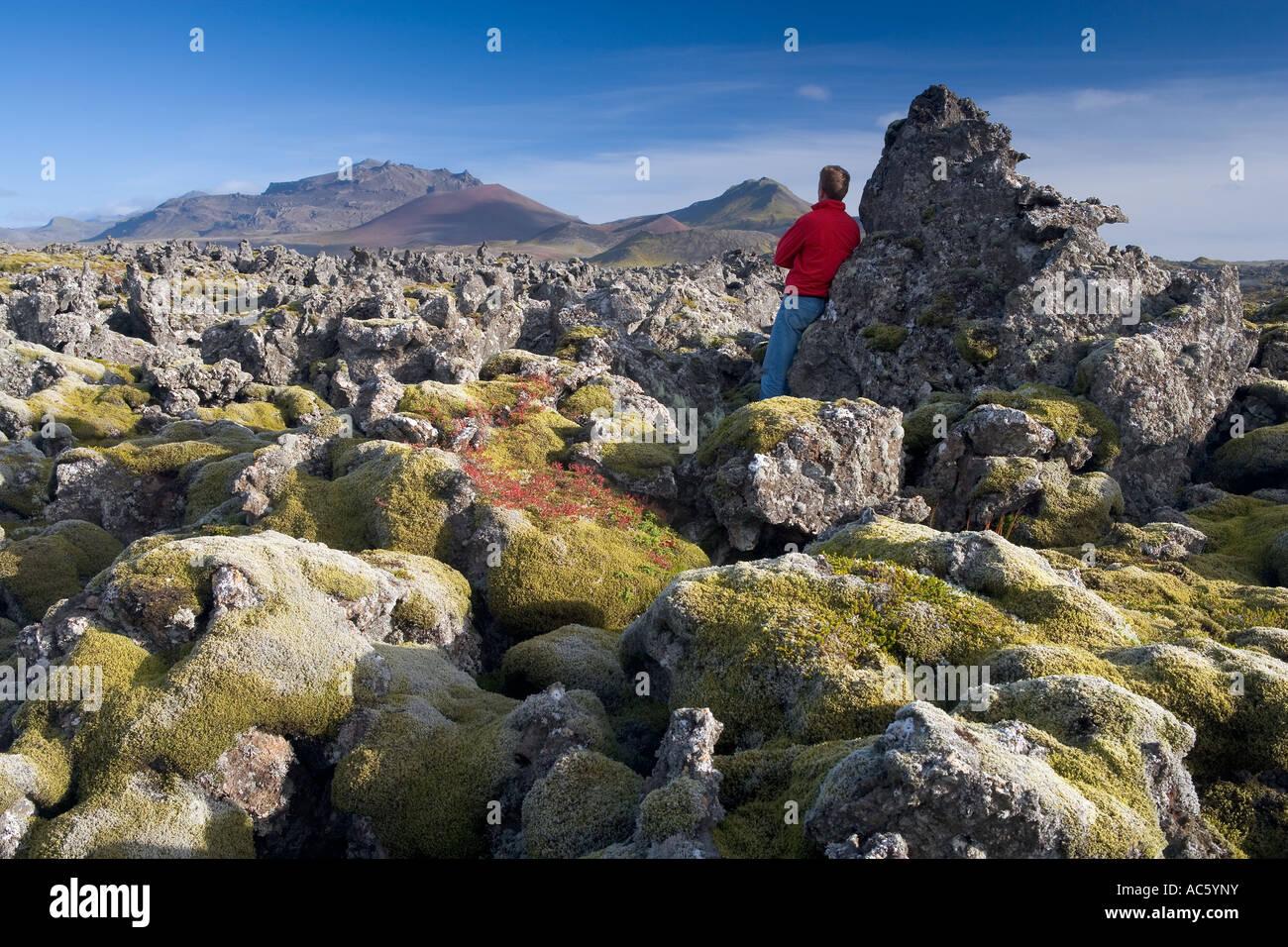 Volcanic Lava Snaefellsnes Peninsula Iceland - Stock Image