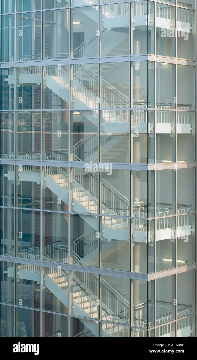 Exterior Stairs Staircase Steps Commercial Building High Rise Glass