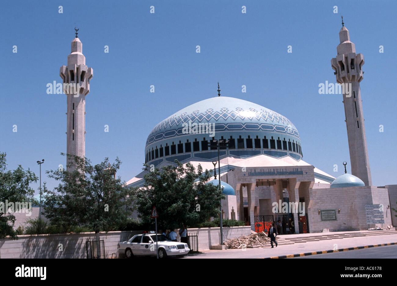 King Abdullah Mosque in Amman Jordan - Stock Image