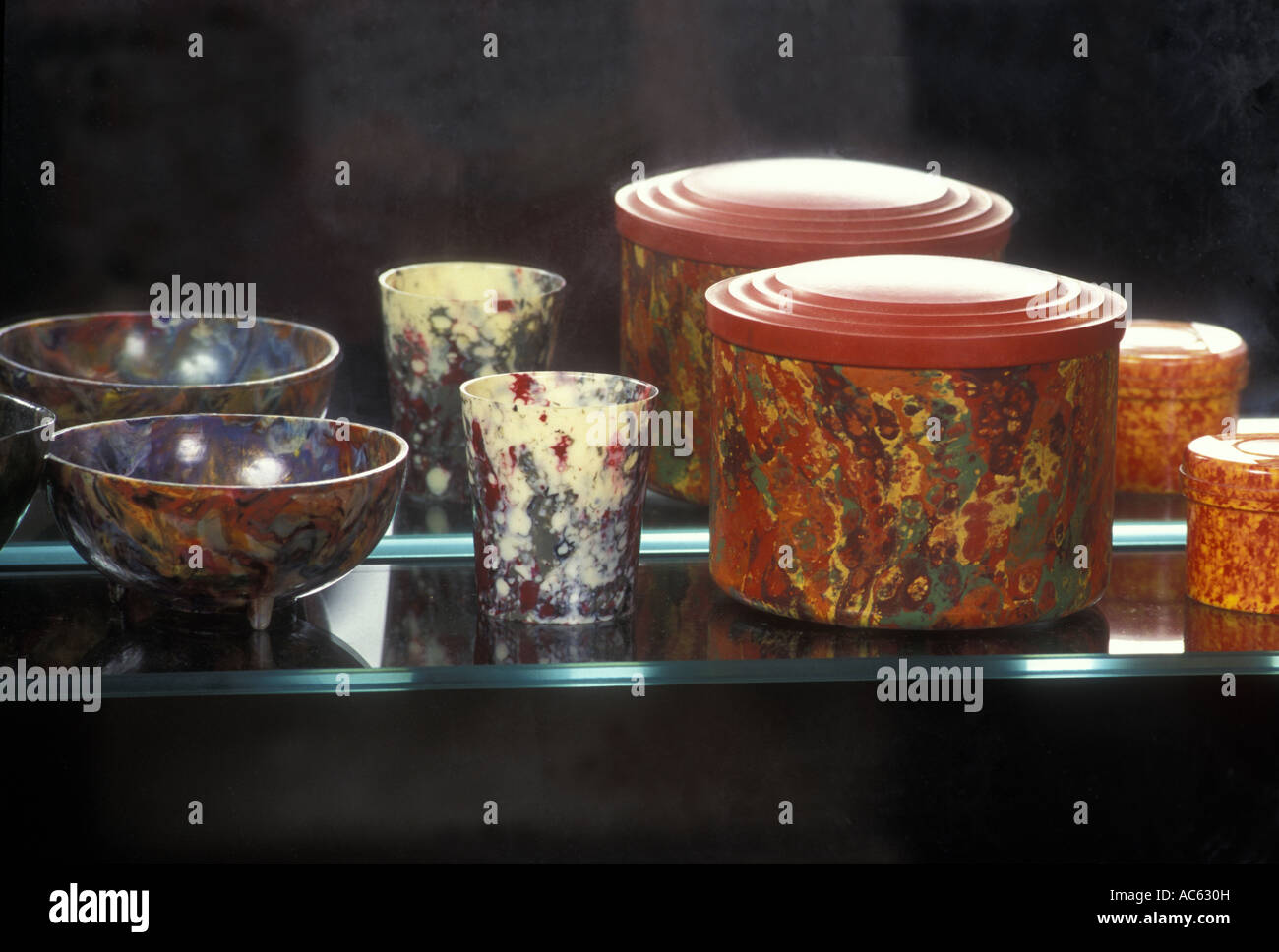 Bakelite products on display at the Bakelite museum in Somerset - Stock Image
