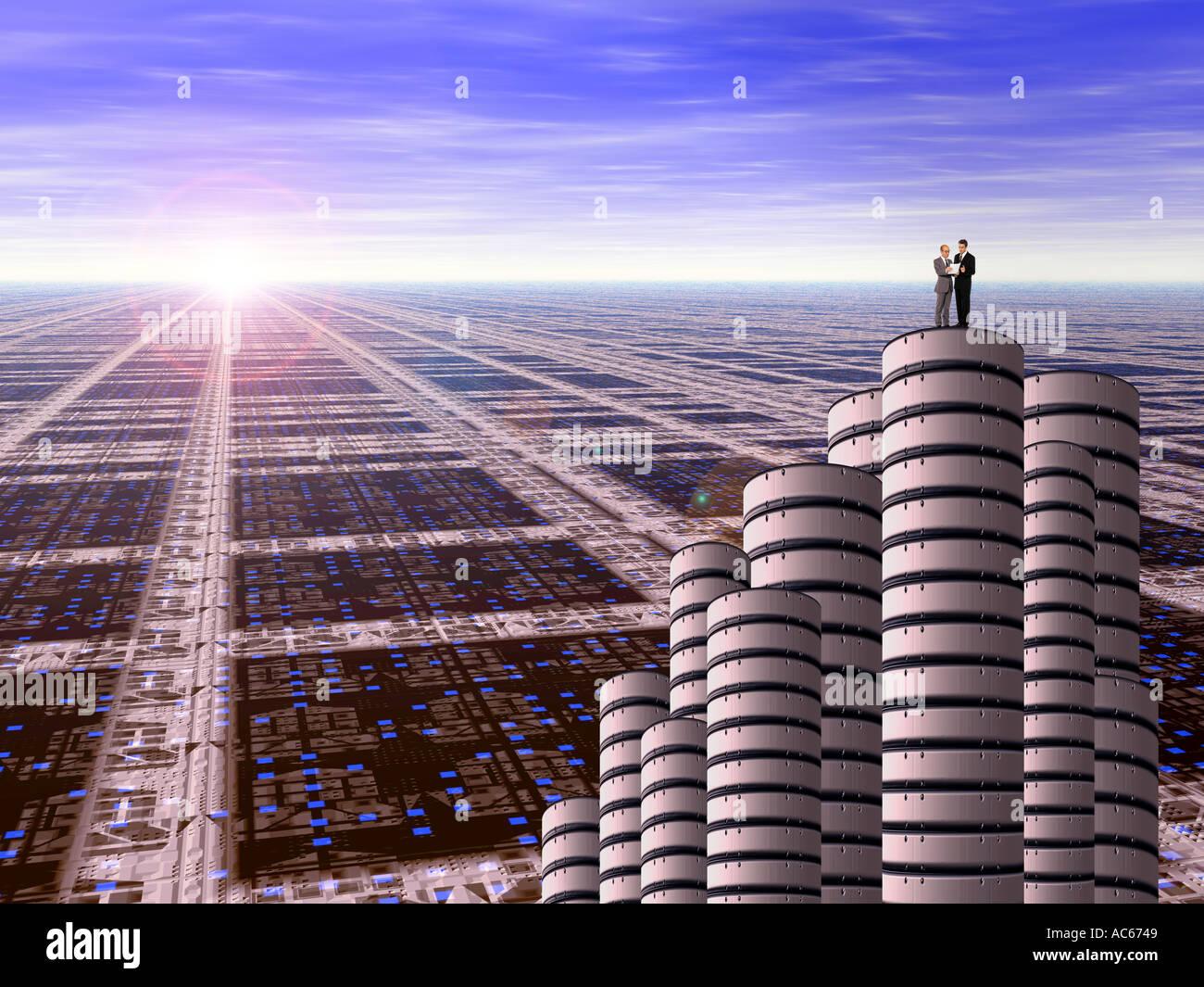 Future scape 2 - Stock Image