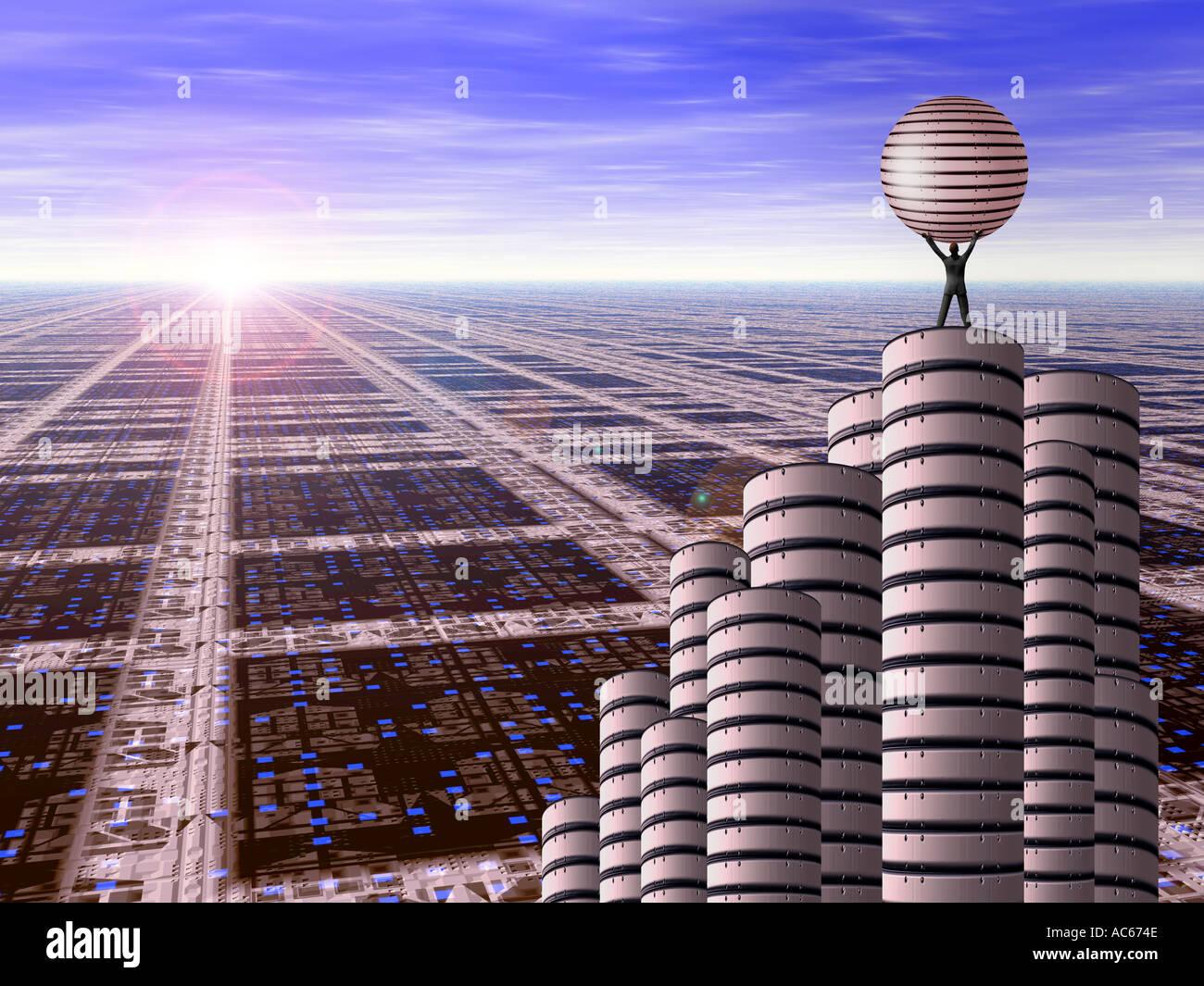 Future scape 3 - Stock Image
