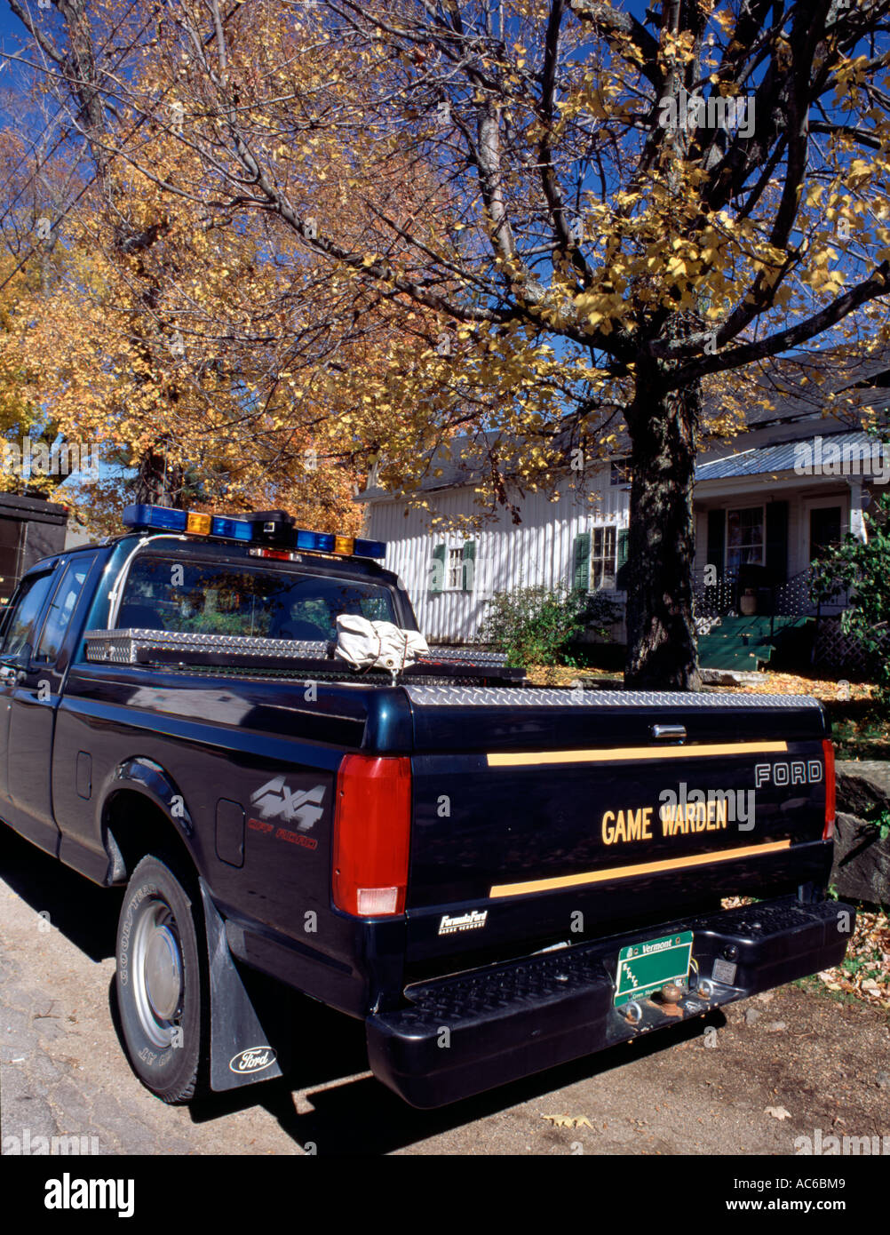 Game Warden S Truck In Vermont New England Stock Photo