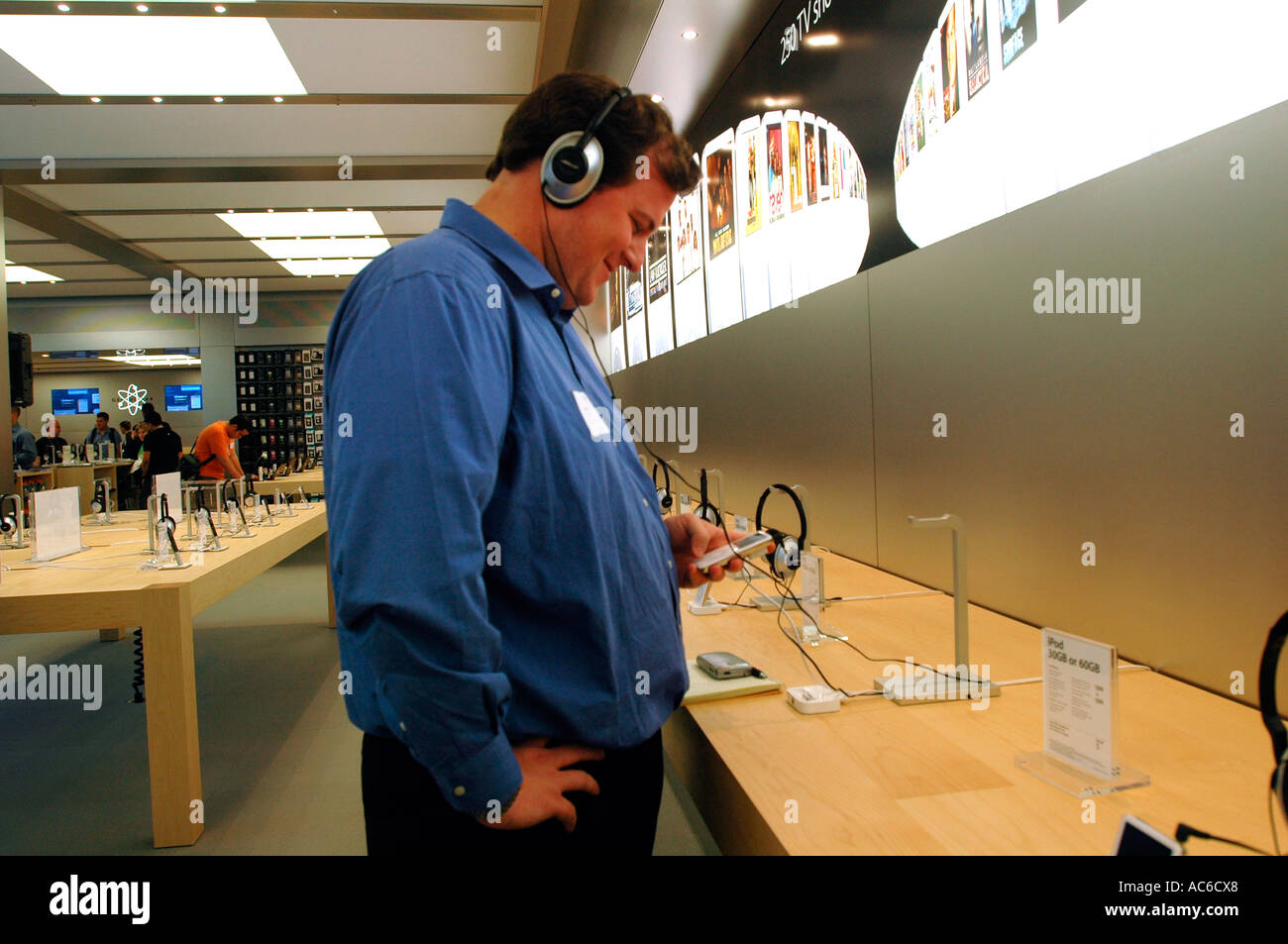 Opening of the second Apple Store in New York City The store will be