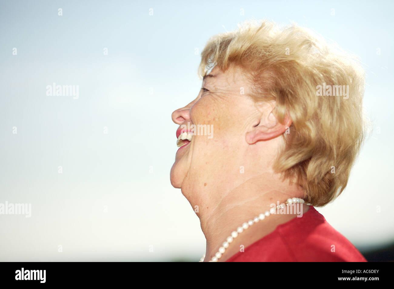 Portraet einer alten Dame portrait of an old lady Stock Photo
