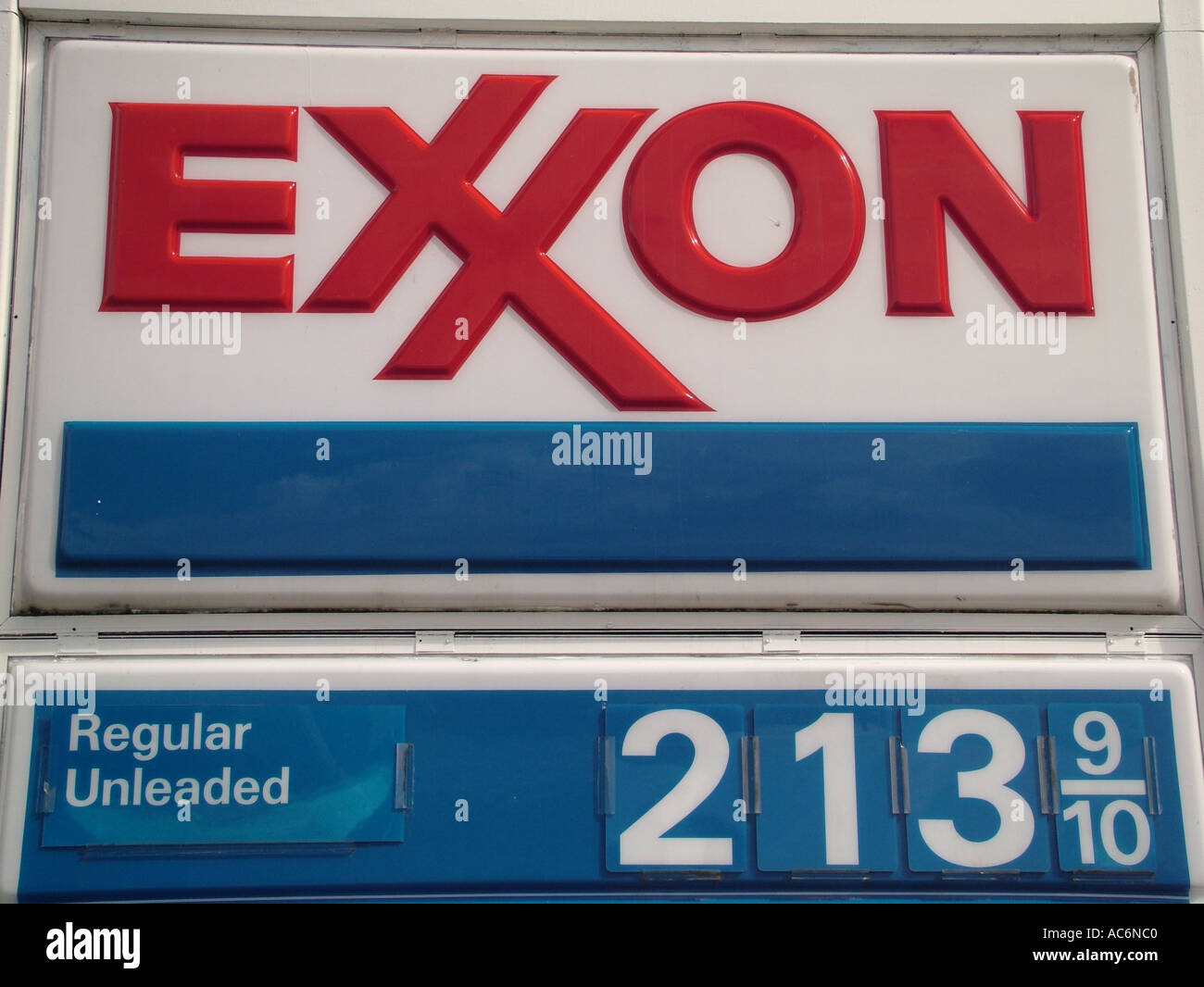 AJD42832, Exxon Gas Station - Stock Image